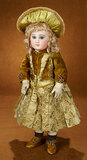 French Bisque Bebe EJ by Emile Jumeau, Couturier Costume, Gilt Signed Jumeau Shoes 3500/4500