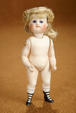 German All-Bisque Miniature Doll with Cobalt Eyes by Kestner 700/900