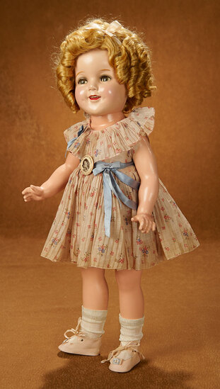 "American Composition Flirty-Eyed Shirley Temple in ""Curly Top"" Costume by Ideal 600/800"