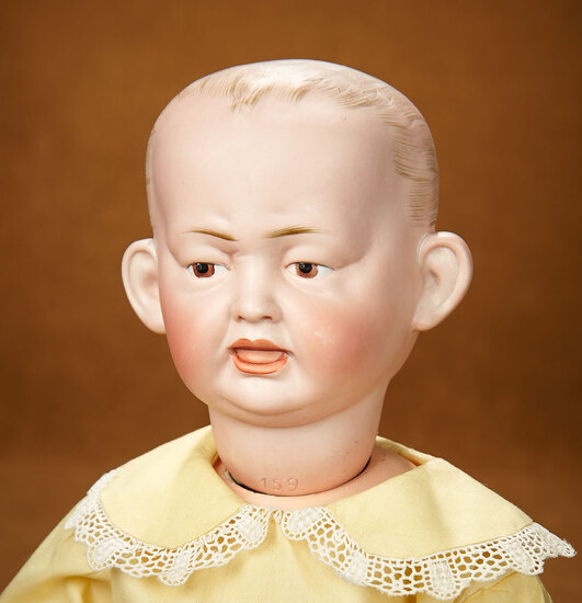 German Bisque Double-Faced Character Doll by Hertel & Schwab 800/1100
