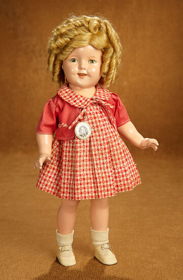 "American Composition Shirley Temple by Ideal in Costume from ""Our Little Girl"" 400/500"
