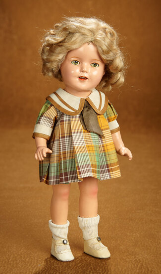 """American Composition Shirley Temple by Ideal in """"Bright Eyes"""" Costume 300/400"""