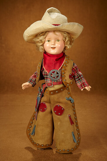 American Composition Shirley Temple by Ideal in Texas Ranger Centennial Costume 700/900