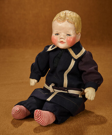 Rare Mystery Doll with Oil-Painted Hair and Features 800/1100