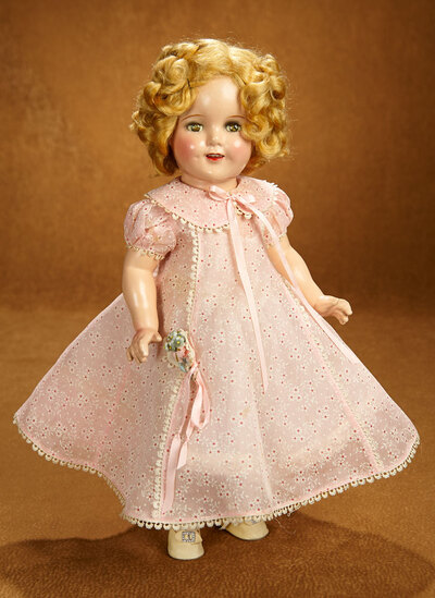 American Composition Shirley Temple by Ideal in Pink Cotton Dress 400/500