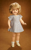 American Composition Shirley Temple in Striped Dress from