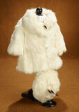 White Rabbit-Fur Coat and Hat with Foxtail Trim for Shirley Temple 300/400