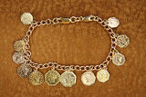 Bracelet Worn by Young Shirley Temple with 12 California Gold Coins 600/800
