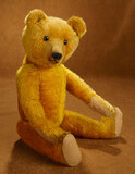 Early Golden Mohair Teddy Bear with Amber Glass Eyes 400/500