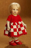 Italian Felt Character by Lenci in Red and White Checkered Dress 300/400
