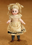 German All-Bisque Black Stocking Miniature Doll by Simon and Halbig 400/500