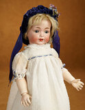 German Bisque Toddler, Model 616, by Simon and Halbig with Antique Costume 500/600