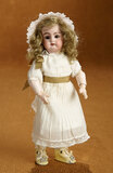 Petite German Bisque Child Doll, 99, by Handwerck with Fully-Articulated Body 300/400