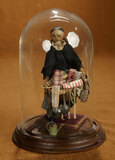 Paper Mache Peddler Lady with Dolls and Novelties 400/600