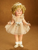 American Composition Shirley Temple by Ideal in Original Pink Pleated Dress 400/500