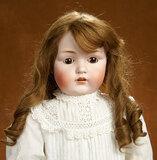 German Bisque Child Doll, Model 214, by Kestner with Original Body 600/800