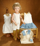 American Wooden Doll by Schoenhut with original Shoes and Wig 500/700