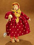 Italian Felt Miniature Doll