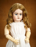 German Bisque Child, Model 79, by Handwerck with Original Body, Antique Costume 300/400