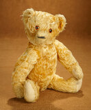 Vintage Golden Teddy Bear with Amber Glass eyes 300/500