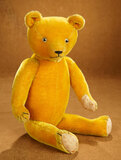 Golden Mohair Teddy with Rarer Clear Eyes, 1920s Era 300/400