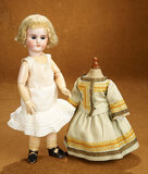 Bisque Doll, Model 1079, for the French Market of Au Nain Bleu, Original Store Label 800/1100