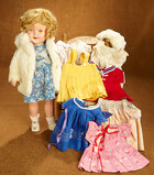 American composition Shirley Temple by Ideal with additional costumes 400/500