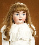 Beautiful German Bisque Child Doll by Kestner with Original Body 600/800