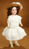 French Bisque Character, 238, by SFBJ in Antique Dotted Swiss Costume 1100/1300