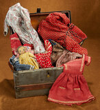 Victorian Doll Trunk with Eight Costumes 200/300