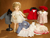 American Composition Shirley Temple by Ideal in Original Box with Extra Costumes 300/400
