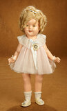 American Composition Shirley Temple by Ideal in Pink Pleated Dress 300/400