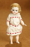 Beautiful German All-Bisque Closed Mouth Doll by Kestner with Original Rare Wig 400/500