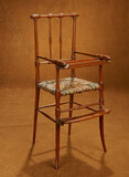 French Doll's High Chair with Especially Fine Quality of Carving and Seat 300/500