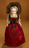 Petite German Bisque Closed Mouth Doll in Folklore Costume 200/300