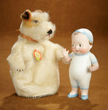 Large German All-Bisque Imp with Sculpted Costume with
