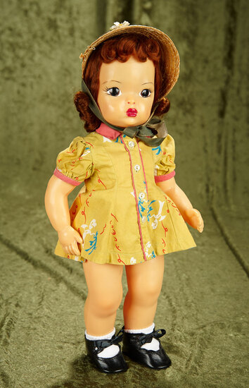 "16"" Vintage hard plastic Terri Lee in excellent condition in tagged dress."