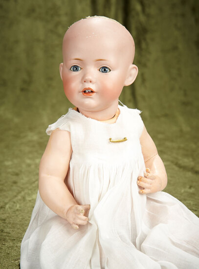 "15"" German bisque Hilda character baby by Kestner with excellent bisque and sleep eyes."