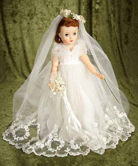 "16"" Elise bride by Madame Alexander in rare Wedding Wreath bridal outfit, 1958 #1750."