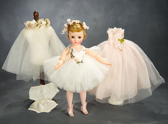 Ash Blonde Elise Ballerina with Additional Rose Gown and Coronet, 1957 500/700