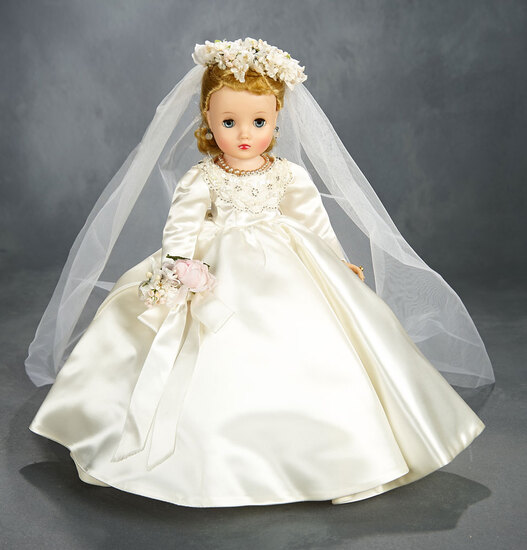 Beautiful Blonde Elise Bride with Superb Gown in Original Box, 1960 400/500