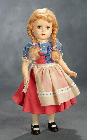 "Blonde Margaret-Face Girl as ""Gretel"" with Original Costume, c. 1948 500/700"