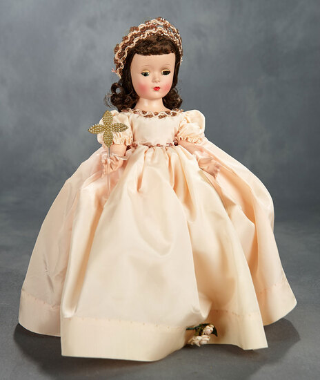 """Story Princess"" in Rose Taffeta Dress with Wand, 1954 600/800"