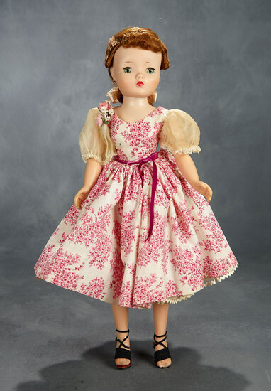 Cissy in Pink Floral Toile Cotton Day Dress, 1955 400/500