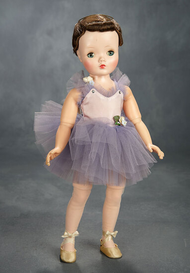Margot Ballerina with Rare Binnie-Face in Lavender Tutu, 1956 400/500