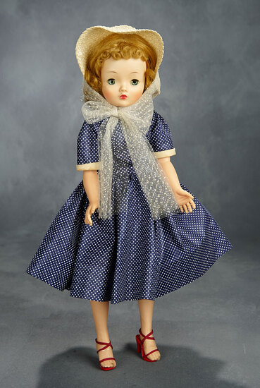 Cissy in Navy Blue Polka Dot Dress, 1958 400/500