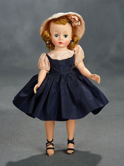 Cissette in Navy Blue Taffeta Afternoon Dress, 1957 300/400