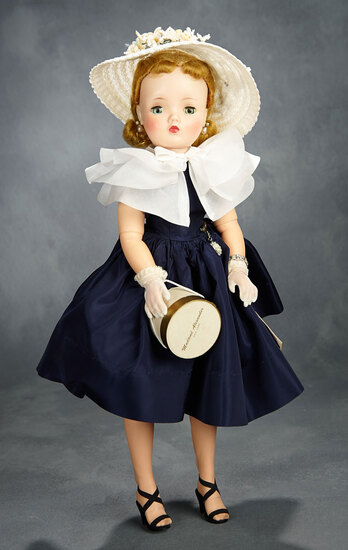 Cissy in Navy Taffeta with Triple-Tiered Cape, 1957 700/900
