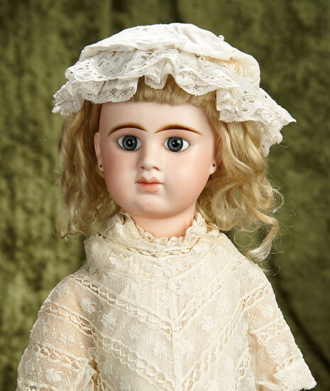 "24"" French bisque closed mouth bebe by Denamur, size 11, original body. $2600/2900"