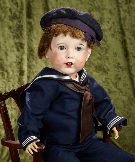 """27"""" French Bisque Character, 251, by SFBJ in Mariner Costume. $1100/1400"""